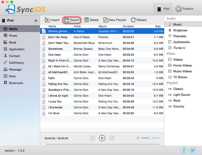 export iPhone music to Mac