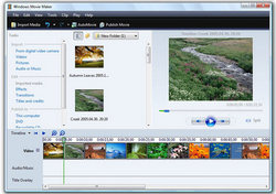 Windows Movie Maker video editor